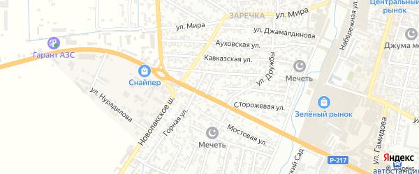 Горный переулок на карте Хасавюрта с номерами домов
