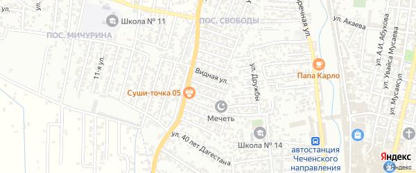 11-я улица на карте поселка Свободы с номерами домов