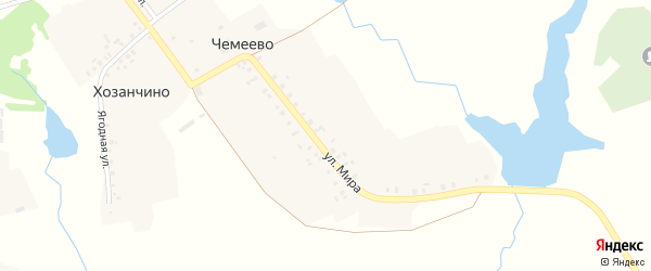 Центральная улица на карте села Чемеево с номерами домов