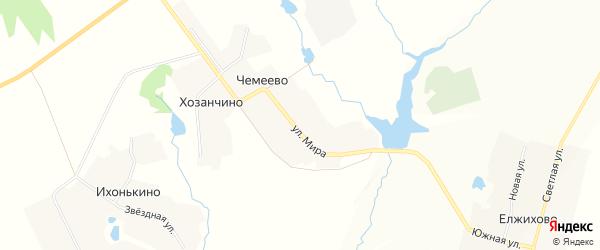 Карта села Чемеево в Чувашии с улицами и номерами домов