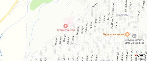 17-я улица на карте Садового поселка с номерами домов