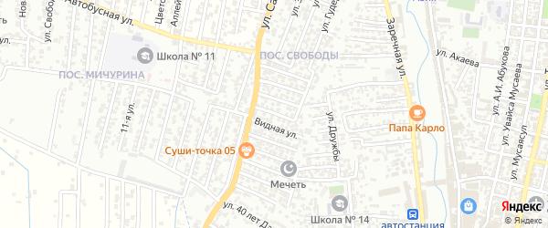 9-я улица на карте поселка Свободы с номерами домов