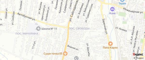 5-я улица на карте поселка Ветеранова с номерами домов