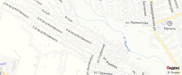 Лермонтова улица 1-й проезд на карте Хасавюрта с номерами домов