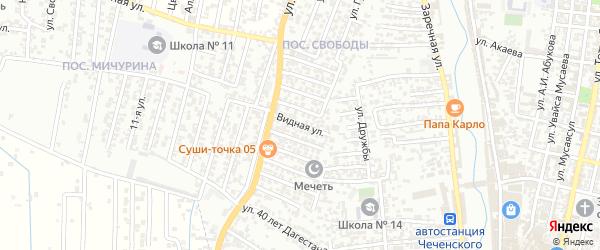 10-я улица на карте поселка Свободы с номерами домов