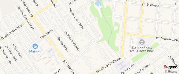 Ленинградская улица на карте Алатыря с номерами домов