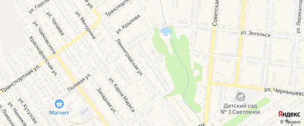 Улица Толбухина на карте Алатыря с номерами домов