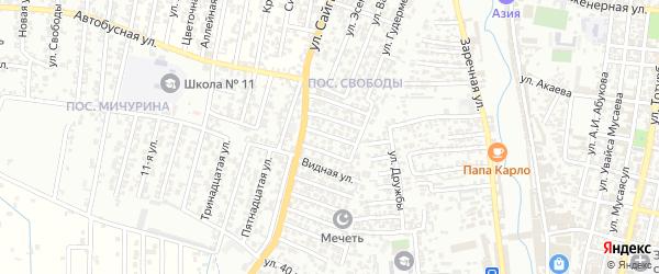 8-я улица на карте поселка Мичуриной с номерами домов