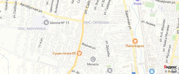 8-я улица на карте поселка Свободы с номерами домов