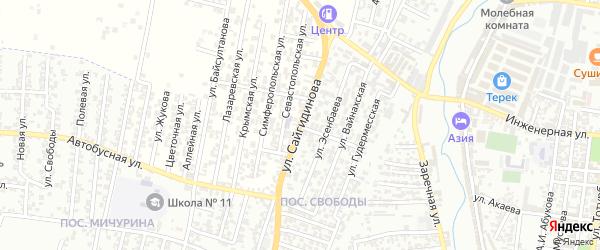 Воинов Интернационалистов улица 1-й проезд на карте Хасавюрта с номерами домов