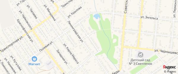Улица Островского на карте Алатыря с номерами домов