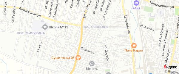 7-я улица на карте поселка Свободы с номерами домов