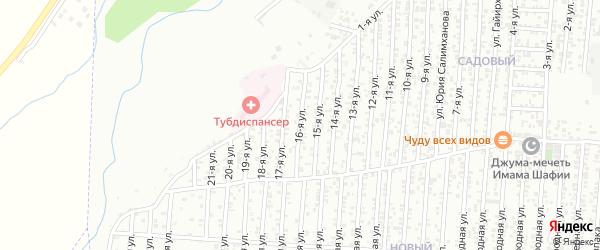 16-я улица на карте Садового поселка с номерами домов