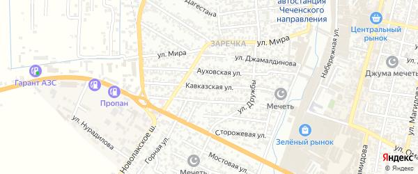 Кавказская улица на карте Хасавюрта с номерами домов