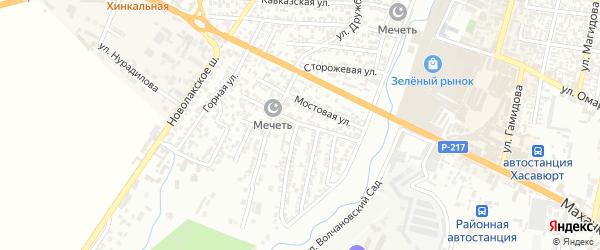 Юго-Западная улица на карте Хасавюрта с номерами домов