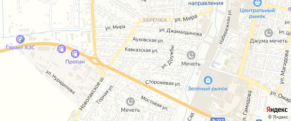 Молодежная улица на карте Хасавюрта с номерами домов
