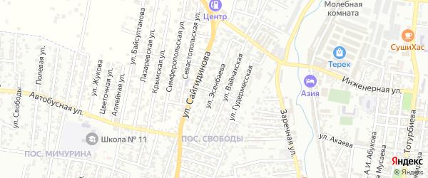 2-я улица на карте поселка Мичуриной с номерами домов