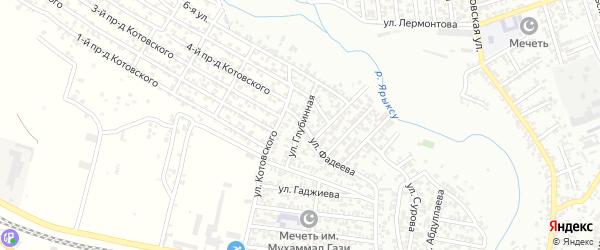 Глубинная улица на карте Хасавюрта с номерами домов