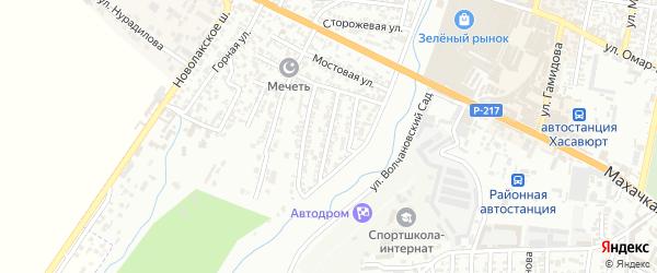 Западная улица 2-й проезд на карте Хасавюрта с номерами домов