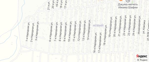 11-я улица на карте Нового поселка с номерами домов