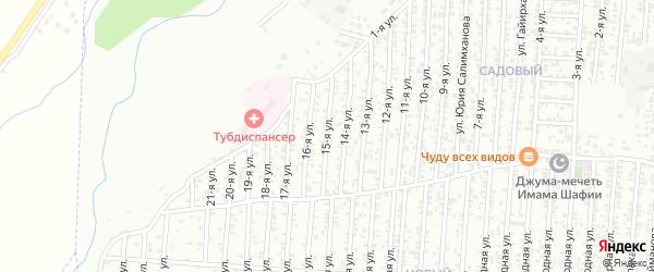 15-я улица на карте поселка Ветеранова с номерами домов