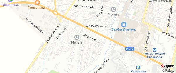 Мостовая улица на карте Хасавюрта с номерами домов