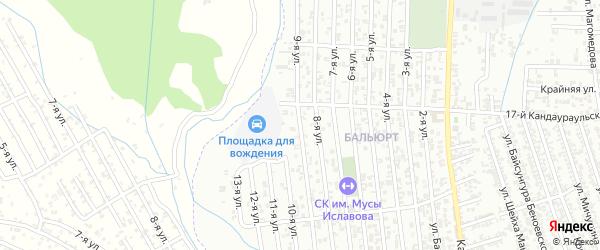 9-я улица на карте поселка Ветеранова с номерами домов