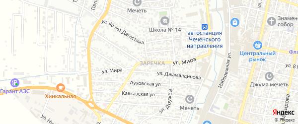 Улица Мира на карте Хасавюрта с номерами домов