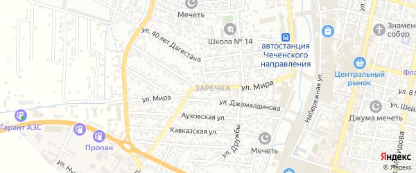 Улица Мира на карте Садового поселка с номерами домов