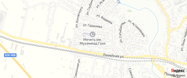 Улица Гамзата Цадасы на карте Хасавюрта с номерами домов