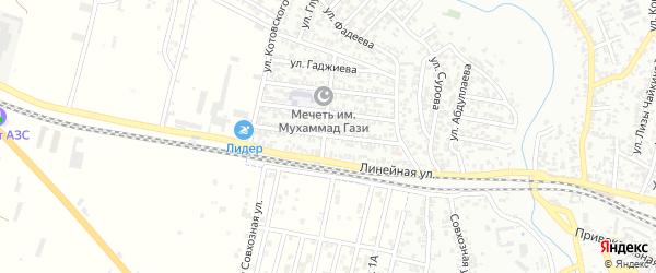 Улица Чехова на карте Хасавюрта с номерами домов
