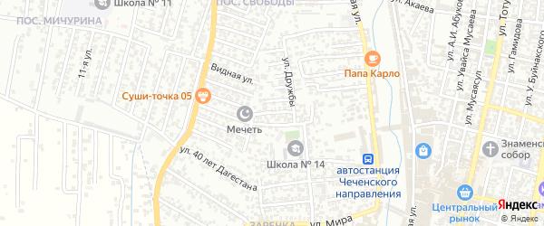 Дружбы 6-й проезд на карте Хасавюрта с номерами домов