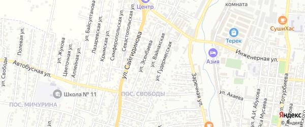 Улица Ташав-Хаджи на карте поселка Свободы с номерами домов