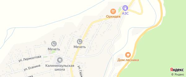 Молодежная улица на карте села Ленинаула с номерами домов