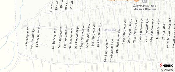 12-я улица на карте Нового поселка с номерами домов