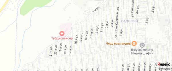 14-я улица на карте поселка Ветеранова с номерами домов