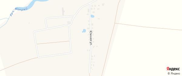 Южная улица на карте поселка Восхода с номерами домов