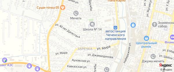 Улица 40 лет ВЛКСМ на карте Хасавюрта с номерами домов