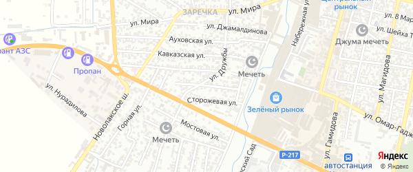 Цветная улица на карте Хасавюрта с номерами домов