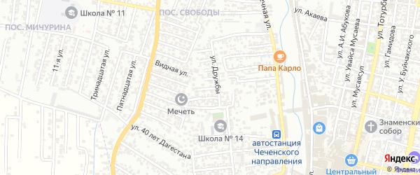 Дружбы 5-й проезд на карте Хасавюрта с номерами домов