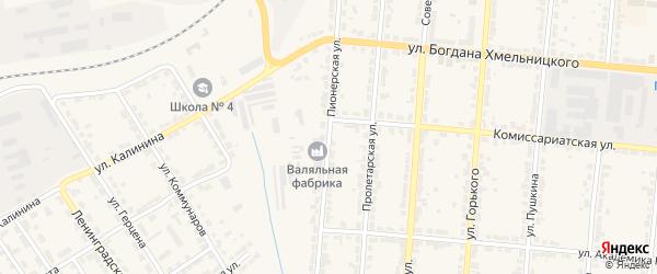 Пионерская улица на карте Алатыря с номерами домов