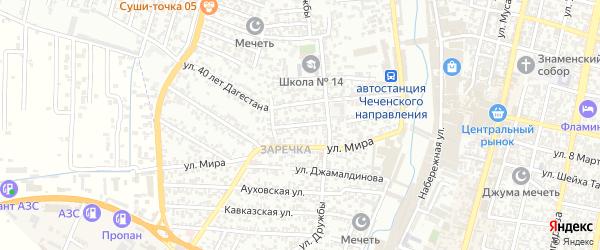 Кооперативная улица на карте Хасавюрта с номерами домов