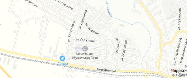 Улица 26 Бакинских Комиссаров на карте Хасавюрта с номерами домов