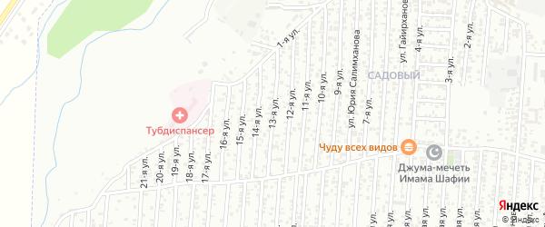 Грозненская улица 13-й проезд на карте Хасавюрта с номерами домов