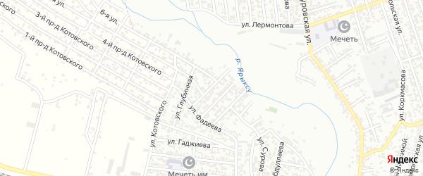 Улица Исакова на карте Хасавюрта с номерами домов