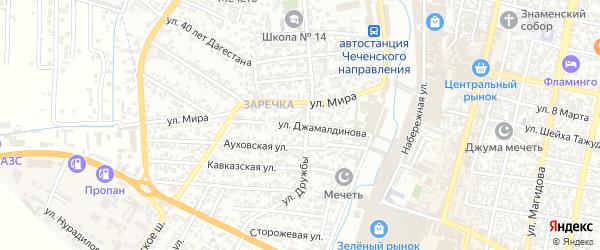 Улица Джамалдинова С.Ш. на карте Хасавюрта с номерами домов