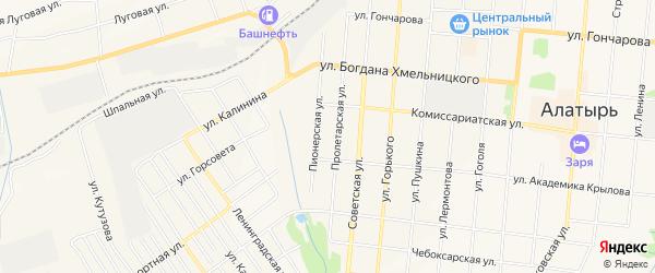 ГСК Техник на карте Алатыря с номерами домов