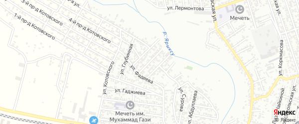 Улица Иллазарова на карте Хасавюрта с номерами домов
