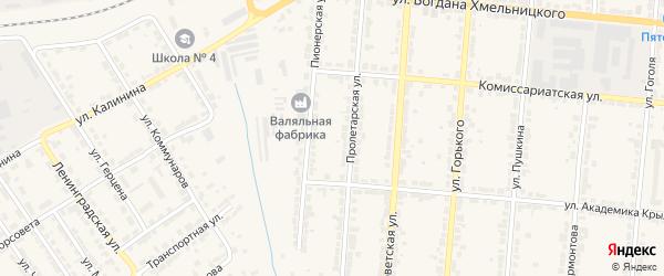 Спуск Дмитрова на карте Алатыря с номерами домов