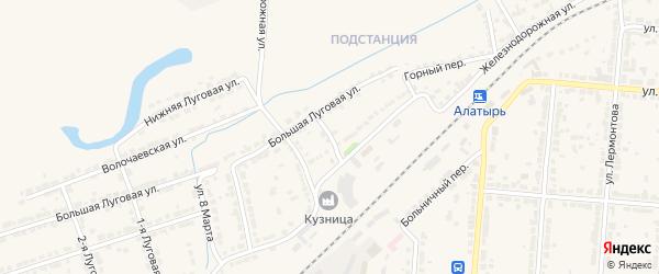 3-я Железнодорожная улица на карте Алатыря с номерами домов